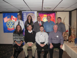 2014-2015 Rotary board members with District 5580 Governor Tim Kaminski.